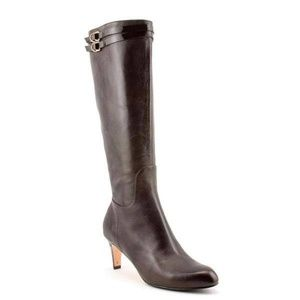 Cole Haan Air Dione Tall Leather Mid-Heel Boots